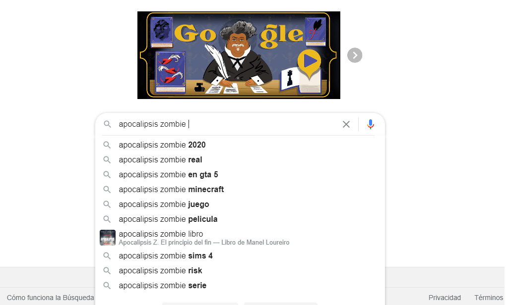Buscador de Google como herramienta para no quedarse sin ideas