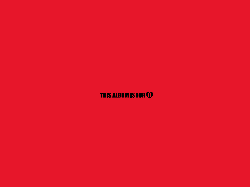 Ejemplo de hiperpersonalización del texto this album is for u