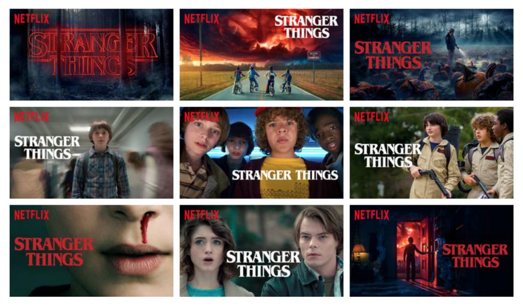 Hiperpersonalización de la portada de Stranger Things en Netflix